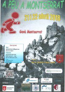 Cartell Publicitari A Peu Gavà Montserrat 2018