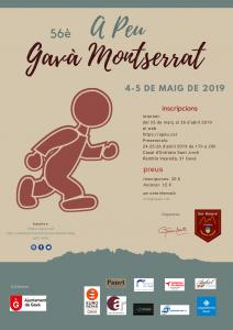 Cartell publicitari de A Peu Gavà Montserrat 2019